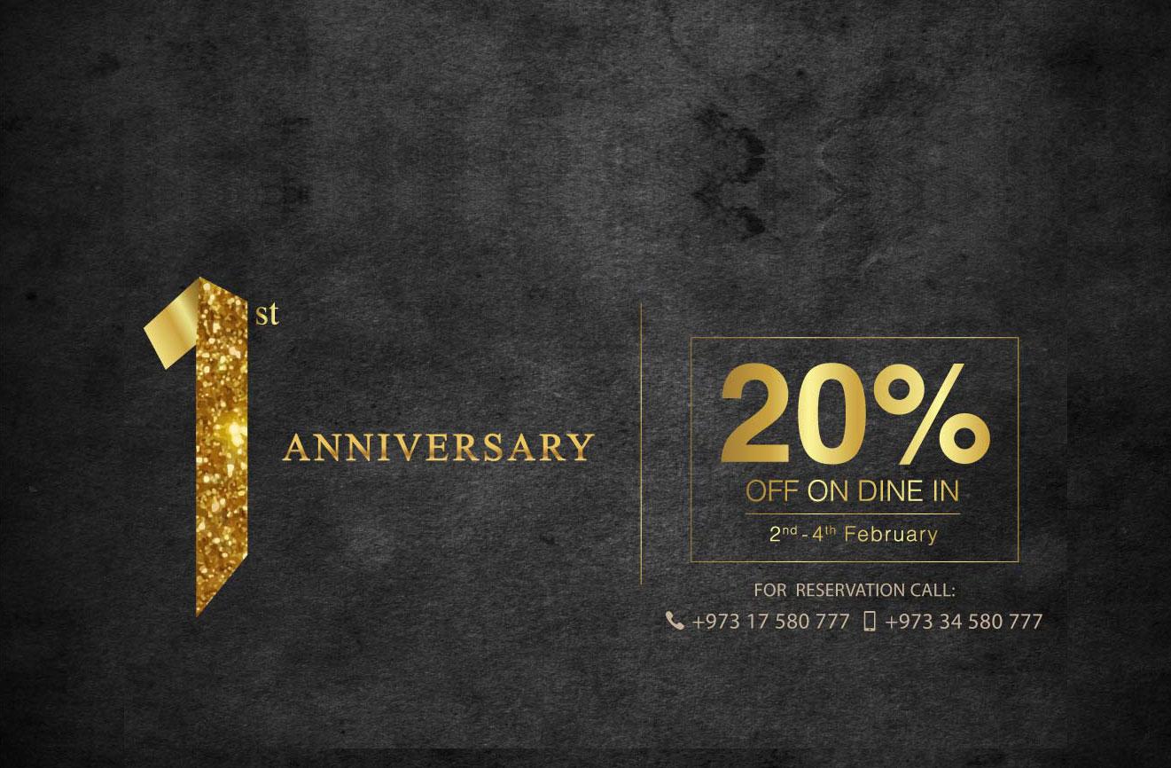 1st Anniversary celebration offer